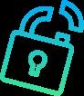 broken lock icon