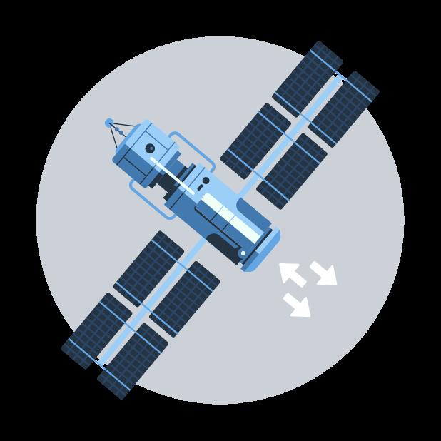 gps satellite graphic
